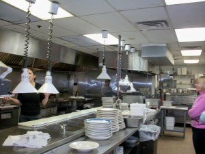 A busy kitchen with Expediters