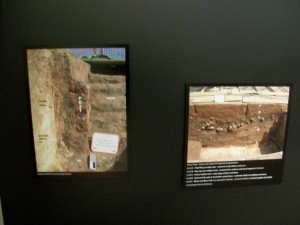 On the left, basement where key was found, Right shows below the plowed line