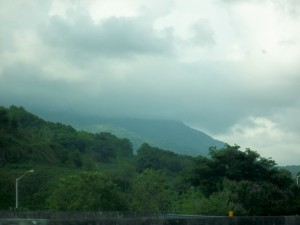 El Yunque at a distance; Rain Forest
