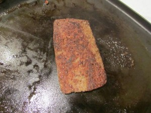 Scrapple, thin and crispy