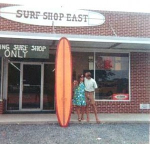 Skip Savage outside Surf Shop East