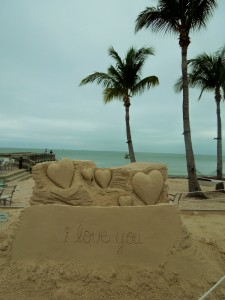 Say It With A Sand Sculpture Happy Valentine S Day About My Beaches
