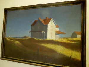House on the Shore, 1981 by Edward Grant, Oil on Canvass