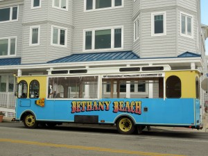 Best way to travel in Bethany Beach..The Trolley!!