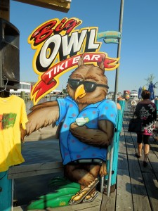 The Big Owl Tiki Bar, Grasonville, Kent Narrows, Maryland, Dock