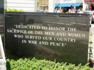 Veteran's Memorial Wall in Rehoboth Beach, Delaware