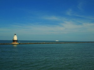 Harbor of Refuge Lighthouse and Cape May Lewes Ferry