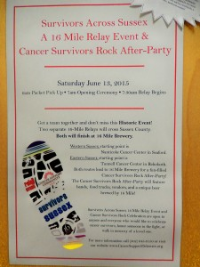 Survivors Across Sussex, 16 Mile Relay Event, Cancer